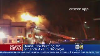 FDNY Battles Fire And Ice During Brooklyn Blaze
