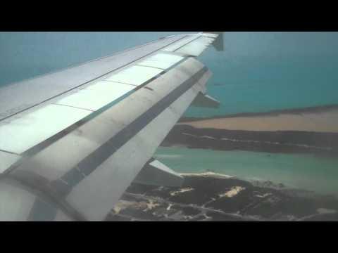 Jet Blue Landing in Turks&Caicos