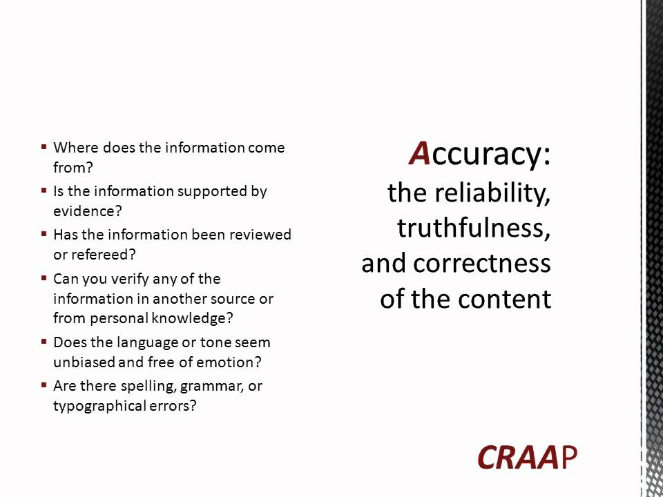 what is the craap test