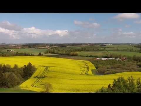 UAS-flight: Greening and flowering Danish May landscapes 2015