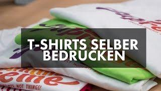 T-Shirts selber bedrucken mit Siebdruck. Textildruck im Siebdruckverfahren