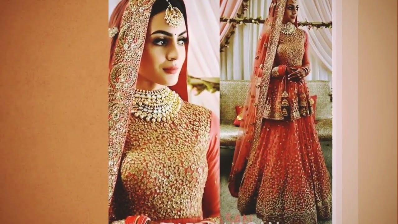 70c5e9a0f new punjabi bridal lehenga designs 2018