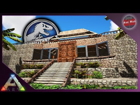 BUILDING THE VISITORS CENTER   ARK SURVIVAL EVOLVED [JURASSIC PARK MOD EP6]