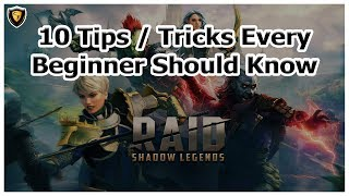 RAID Shadow Legends - 10 Tips / Tricks Every Beginner Should Know