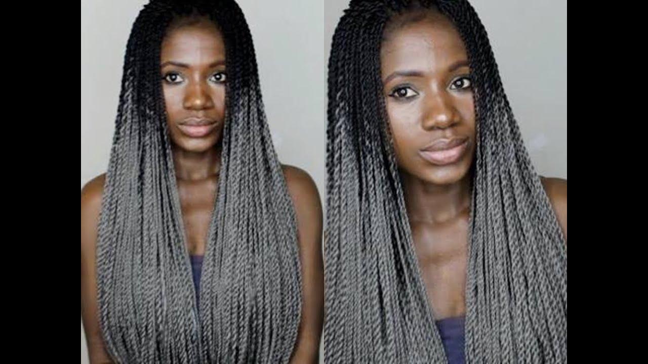 How To Do Crochet Twist Braids Grey Hair Youtube