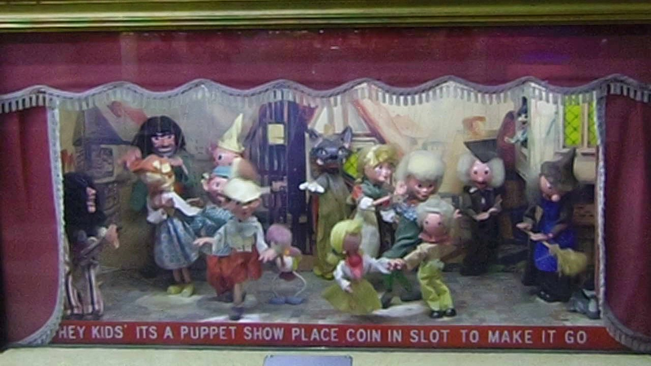 Vintage Pelham Puppet Show Amusement Arcade Machine Youtube