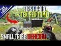 FIRST RAID & TEK REX TAME!    Small Tribe PvP Official   Ark: Survival Evolved