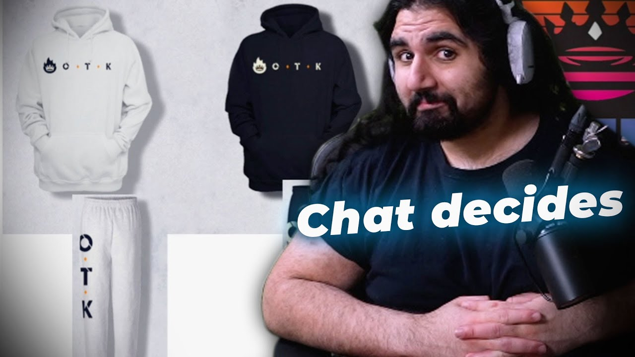 Esfand lets Twitch Chat pick the Winner of OTK Merch Contest (It's super close!!!)