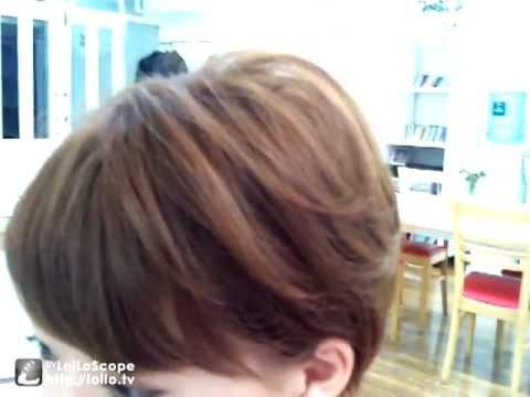 ショートヘアアレンジ 簡単なホットカーラーの巻き方 Youtube