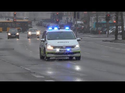[New!] Police cars responding code 3 in Copenhagen!