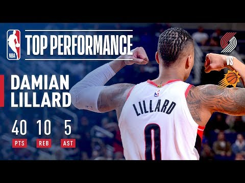 Damian Lillard Drops 40 & Hits Game Winner in Phoenix! | February 24, 2018