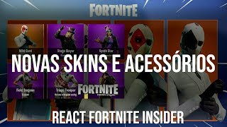 "REACT to the VIDEO FORTNITE INSIDER-""FORTNITE-NEW SKINS and LEAKED ITEMS! Patch v 5.40 """