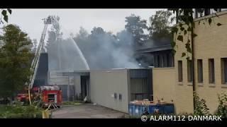 Brand i industribygning i Espergærde