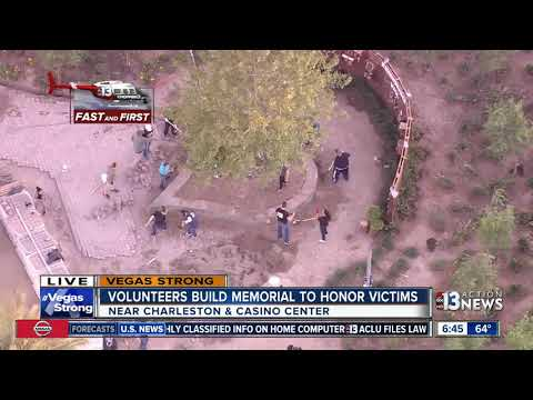 Volunteers build memorial park to honor Las Vegas shooting victims