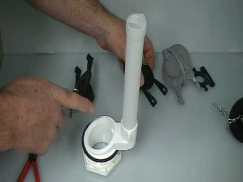 toilet flush valve assembly how to change a flapper