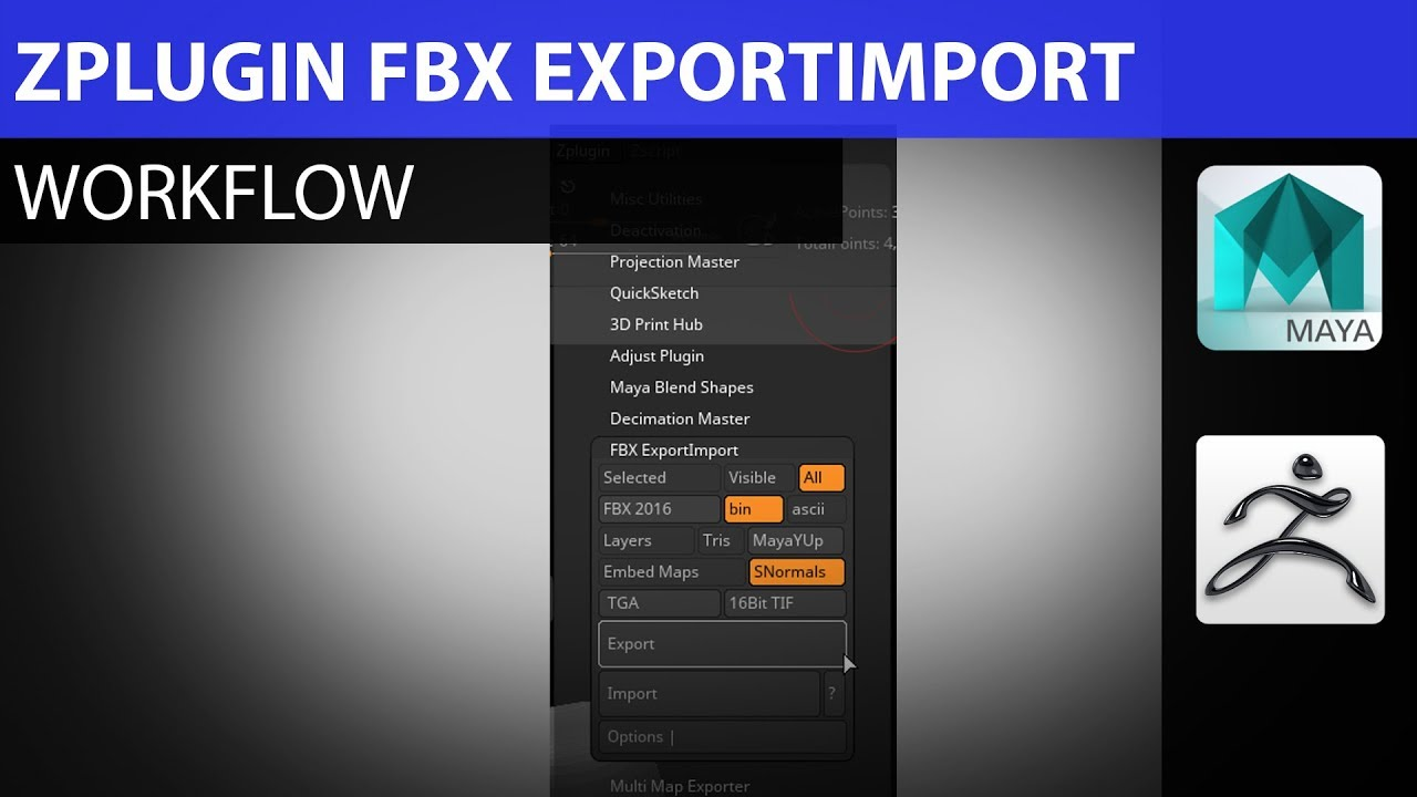 How to Fix Zbrush FBX ExportImport ZPlugin with Maya