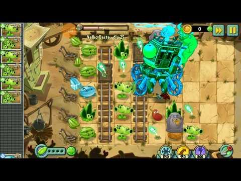 plants-vs.-zombies-2---velho-oeste---derrotamos-a-carroÇa-de-guerra-zumbÔ---parte-25
