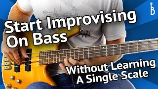 Bass Solos: How To Start Improvising On Bass [No Scales Needed]