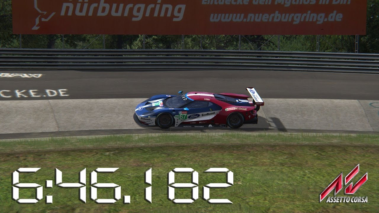 Assetto Corsa  Ford Gt Lm Gte Nurburgring Nordschleife Lap Times