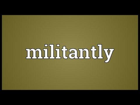 Header of militantly