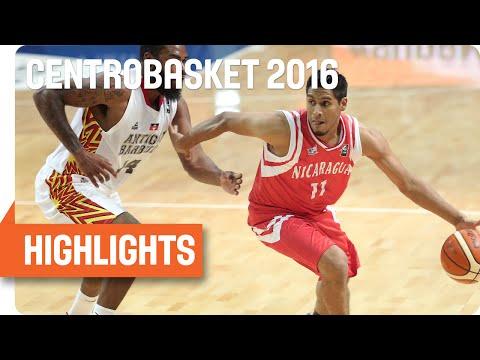 Antigua(ANT) v Nicaragua (NCA) Game Highlights - Group A - 2016 FIBA Centrobasket Championship