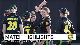 Runs flow as Australia claim series opener | First CommBank T20I