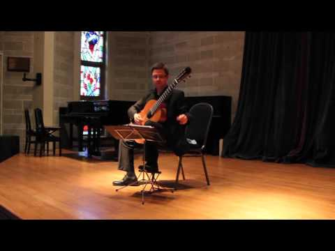 Bradford Werner - Weiss Suite in E Minor on Classical Guitar