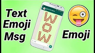 How to send text emoji messages || Text Emoji Message || Emoji😎☺😊😀