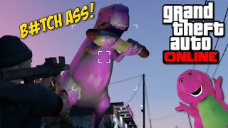getlinkyoutube.com-KILLING BARNEY B#TCH ASS! [GTA ONLINE]