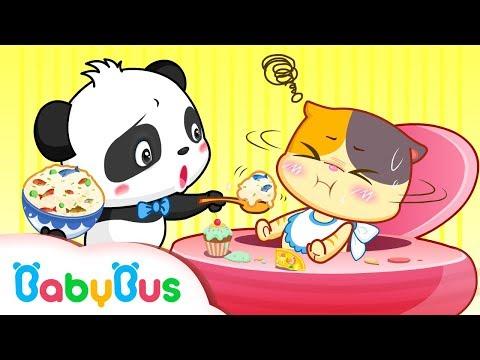 Baby Kitten Doesn't Like Vegetables | Kids Good Habits | BabyBus Cartoon