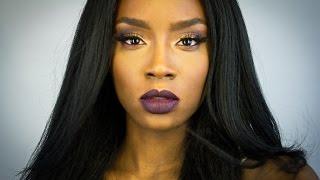 Fall Glam Makeup Tutorial   Dark Lips