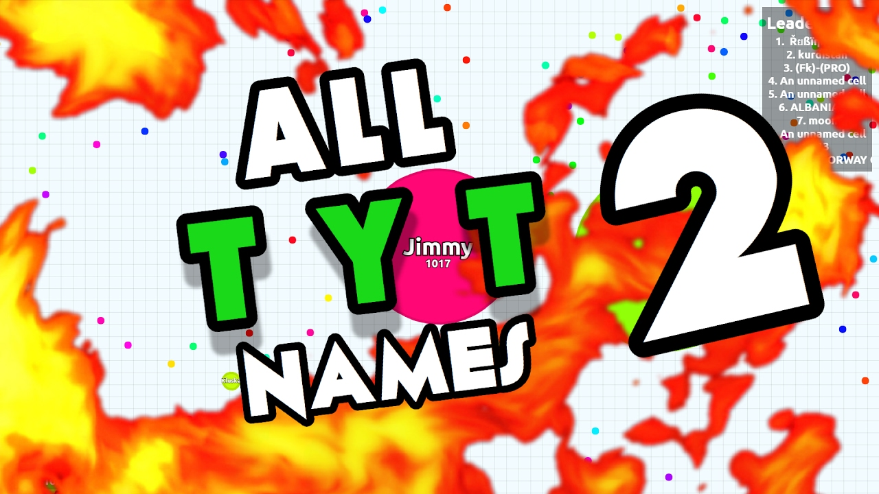 ALL AGARIO NAMES COPY AND PASTE! ZT, TYT, HERO, MGR AND MORE ...