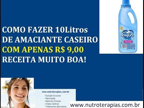 COMO FAZER 10 LITROS DE AMACIANTE CASEIRO COM APENAS R$ 9,00 - RECEITA PRÁTICA E CHEIROSA