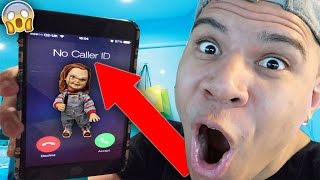 5 INSANE CALLING CHUCKY DOLL VIDEOS *HE ACTUALLY ANSWERED OMG!!*