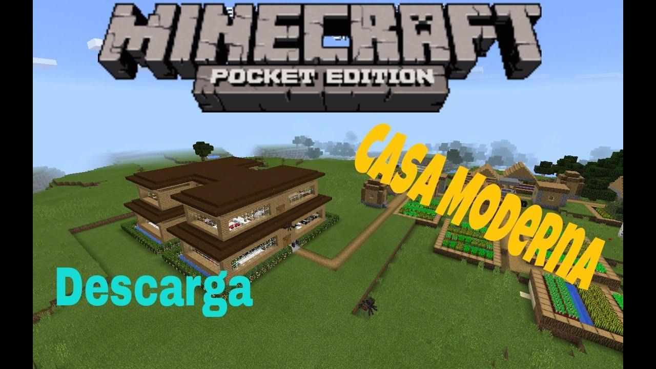 Minecraft Casa Moderna Descarga Youtube