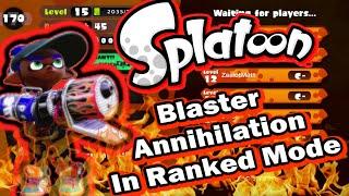 Blaster Annihilation in Ranked Battle 14 Kills 0 Deaths - Splatoon Wii U