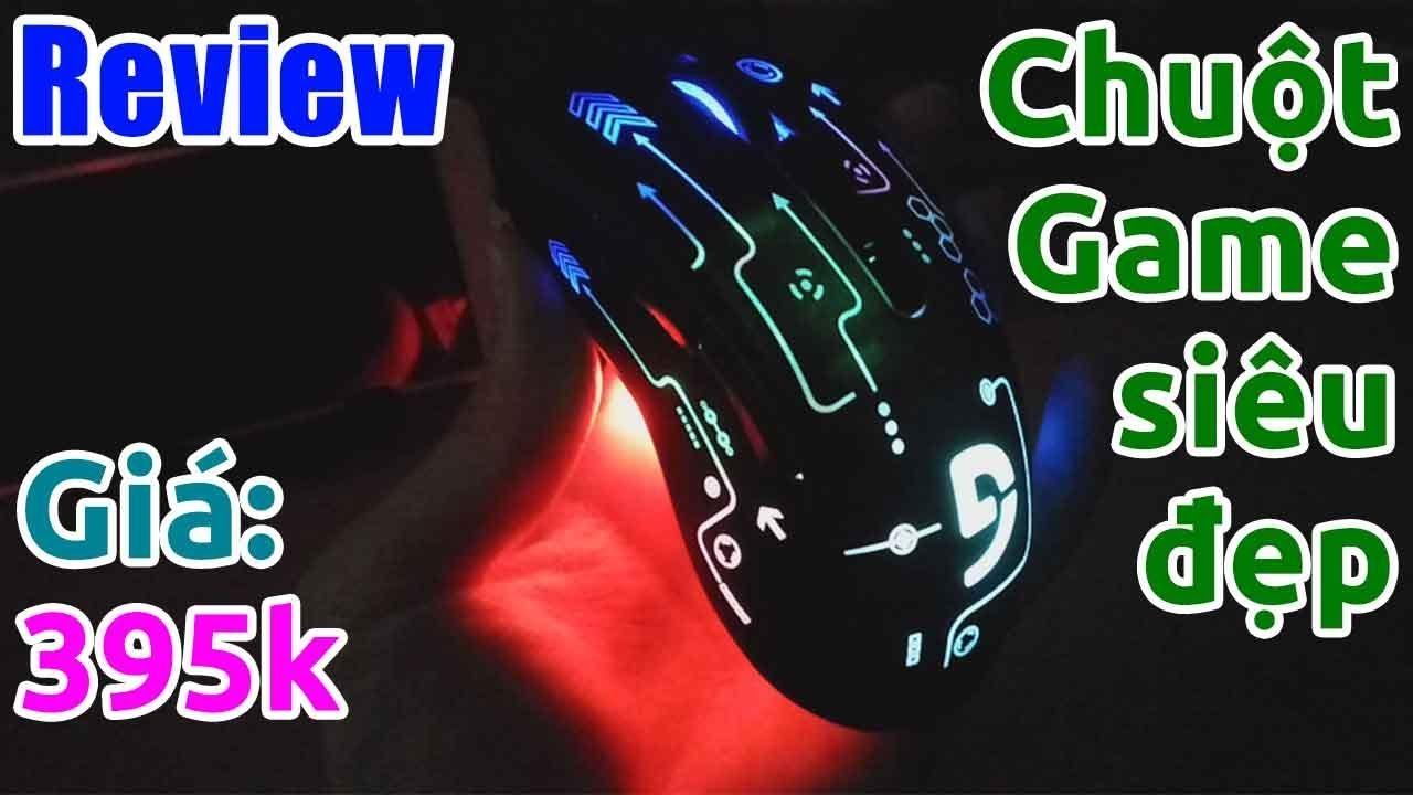 Trên tay chuột chuyên game có đèn LED RGB siêu đẹp