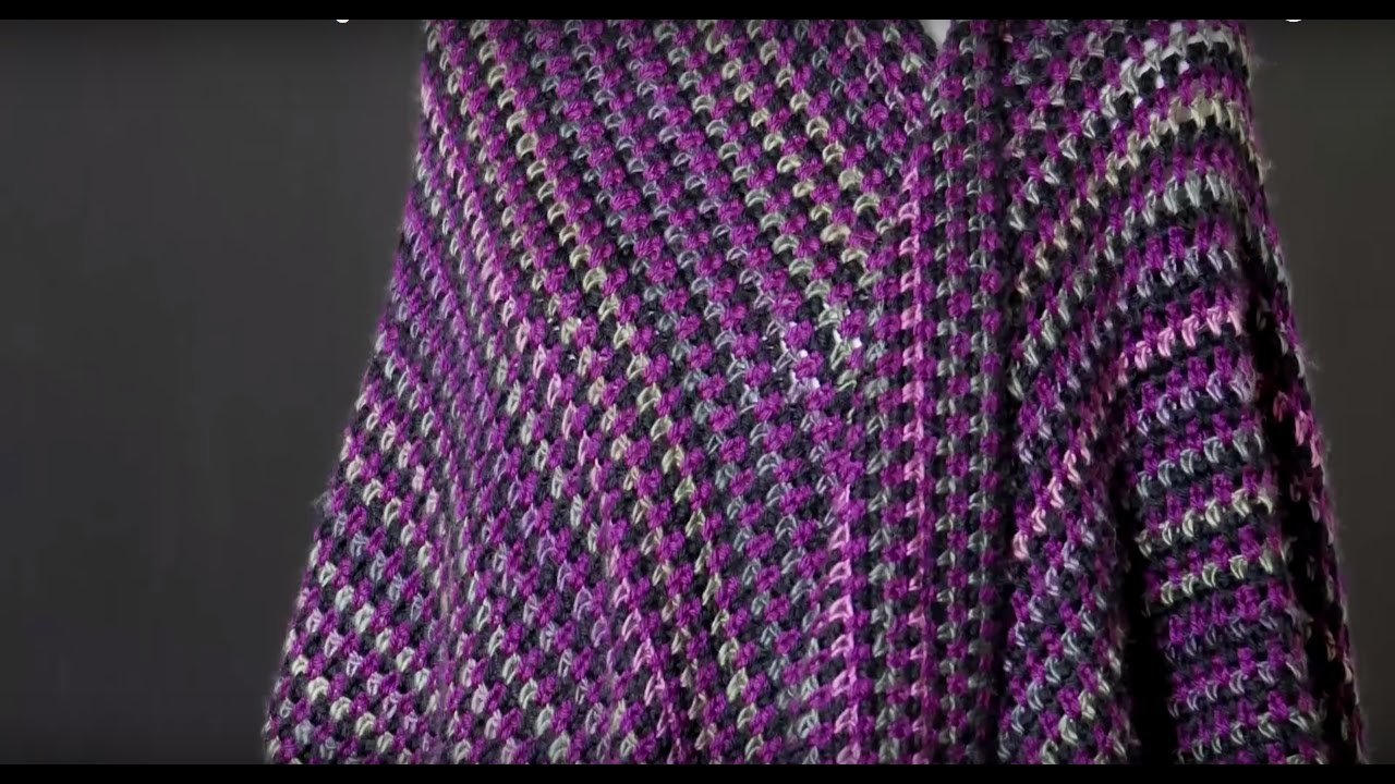Red Heart Crochet Along: Around Town Ruana Week Four - YouTube