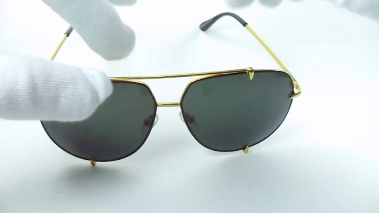 5b624b80c1a Lentes De Sol Dita Talon Gold Alloy Black Lense Av0103 - YouTube