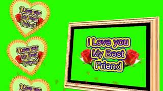 Happy Friendship Day Green Screen Effects - Happy Friendship Day speciel 3D Animated Video No 56