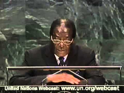 Zimbabwe UN 62nd General Assembly by President Robert Mugabe