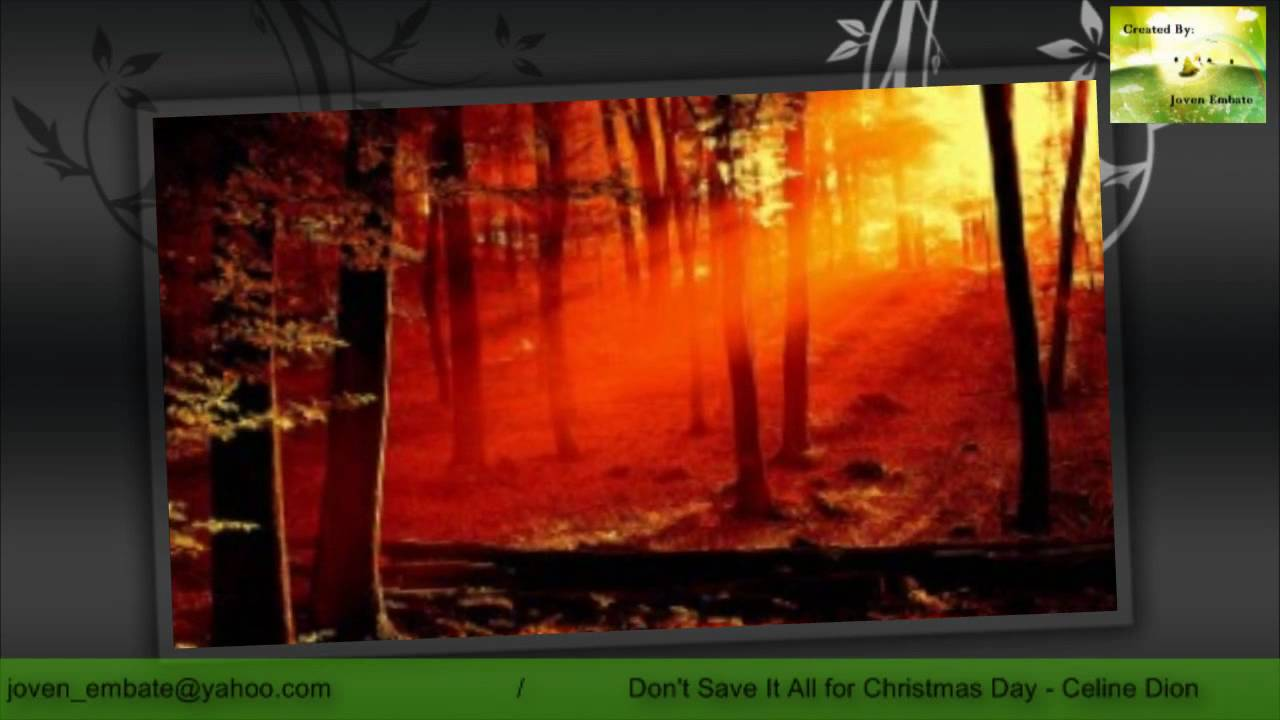 Don't Save It All for Christmas Day - Celine Dion - YouTube