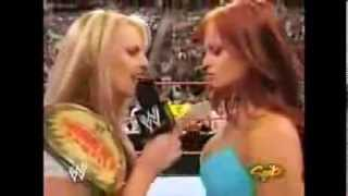 WWE Trish Stratus and Christy Hemme Segment / Return after her injury Lita