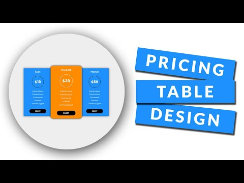 Pricing Table Design using HTML and CSS