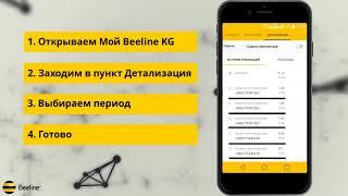 """Детализация по номеру легко и просто с """"Мой Beeline KG"""""""
