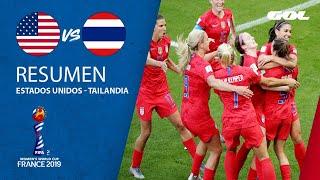 RESUMEN | Estados Unidos 13-0 Tailandia