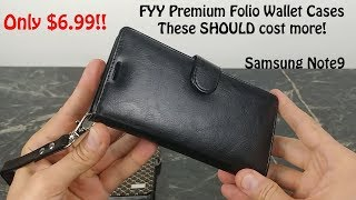 Premium Folio Wallet Cases for Samsung Galaxy Note 9 from FYY