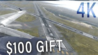 AMAZING GRAPHICS! Spectacular X-Plane 11 flight from Boston to Washington | 4K