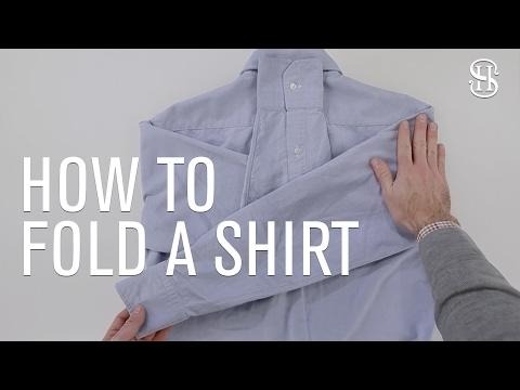 How To Fold A Dress Shirt - He Spoke Style