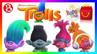 ТРОЛЛИ Хэппи Мил МакДональдс 2016! Новые игрушки в Хэппи Мил! TROLLS Happy Meal 2016!